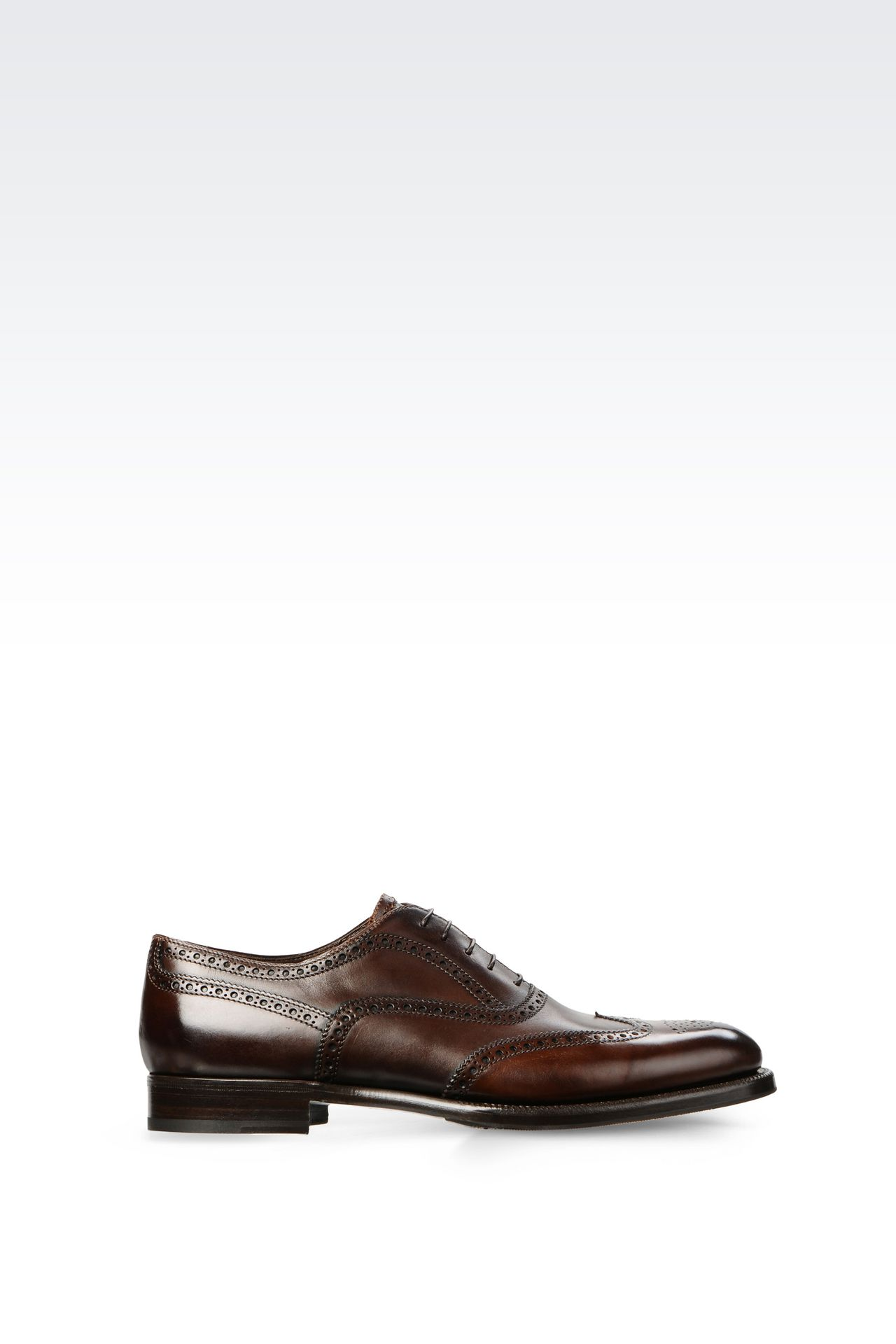 CLASSIC CALFSKIN BROGUE: Lace-up shoes Men by Armani - 0