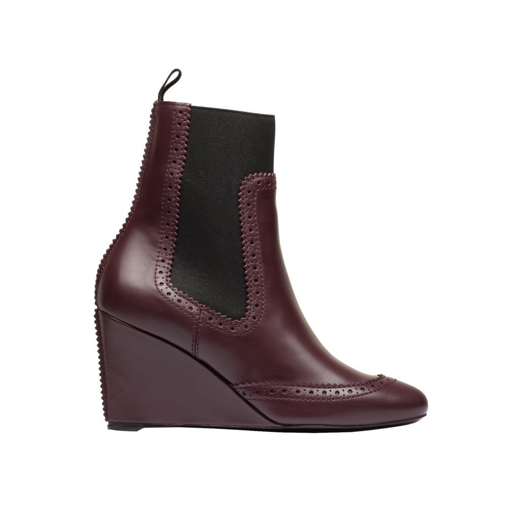 Balenciaga Brogues Chelsea Wedge Boots