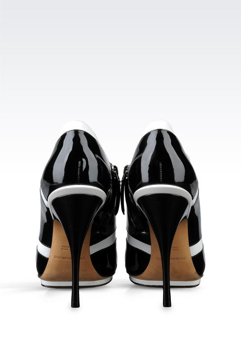 RUNWAY ANKLE BOOTS IN TWO-TONE PATENT LEATHER: Heeled pumps Women by Armani - 3