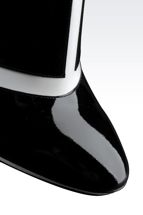 RUNWAY ANKLE BOOTS IN TWO-TONE PATENT LEATHER: Heeled pumps Women by Armani - 4