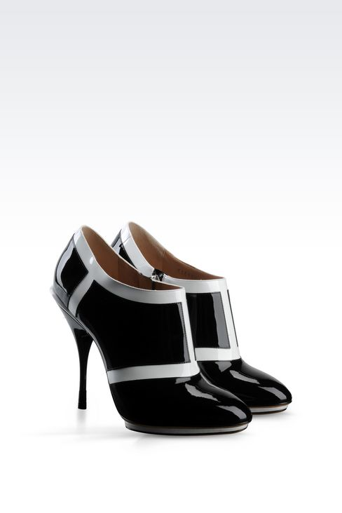 RUNWAY ANKLE BOOTS IN TWO-TONE PATENT LEATHER: Heeled pumps Women by Armani - 2