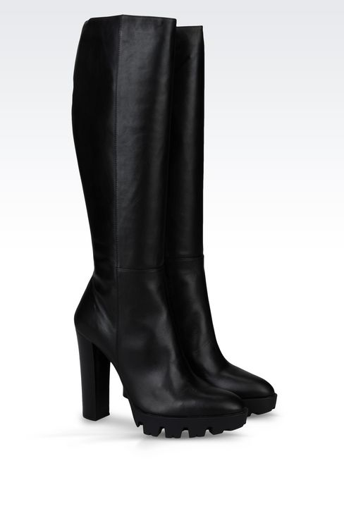 LEATHER BOOT WITH LUG SOLE