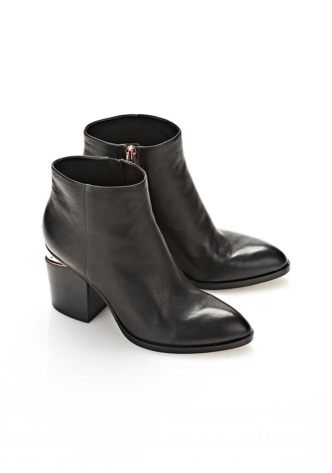 ALEXANDER WANG GABI BOOTIE WITH ROSE GOLD BOOTS Adult 12_n_r