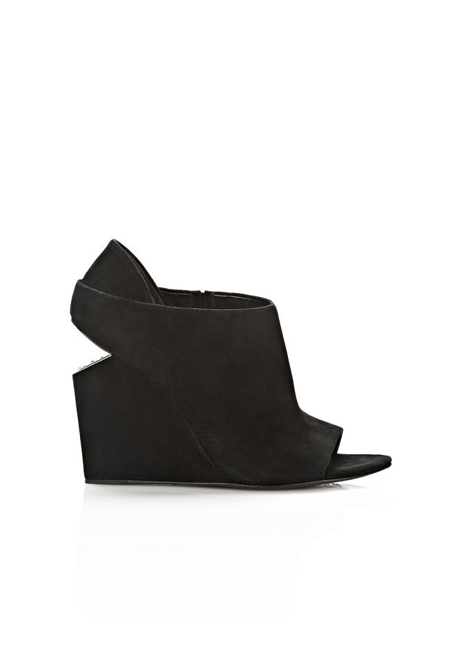 ALEXANDER WANG ALLA SUEDE WEDGE WITH RHODIUM