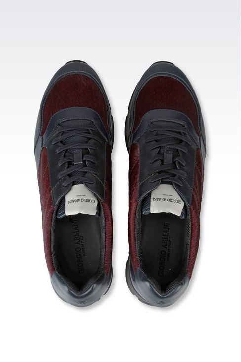 SNEAKER IN PONY SKIN: Sneakers Men by Armani - 3