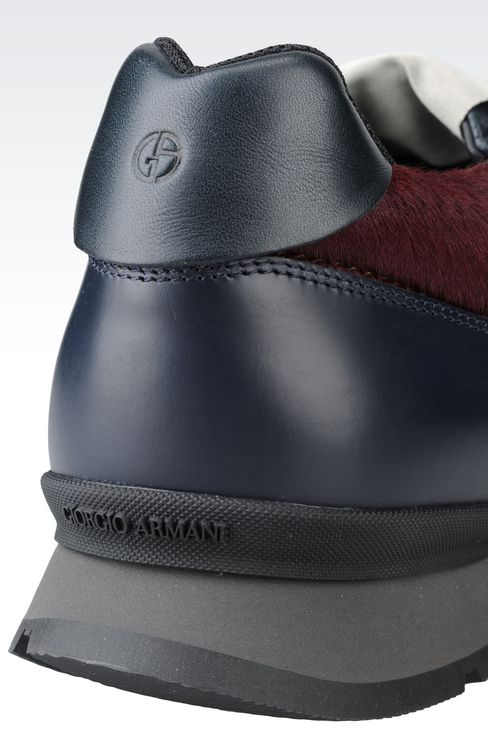 SNEAKER IN PONY SKIN: Sneakers Men by Armani - 4