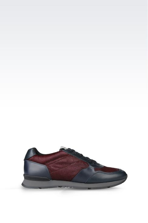 SNEAKER IN PONY SKIN: Sneakers Men by Armani - 1