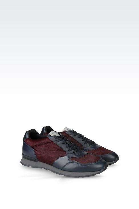SNEAKER IN PONY SKIN: Sneakers Men by Armani - 2