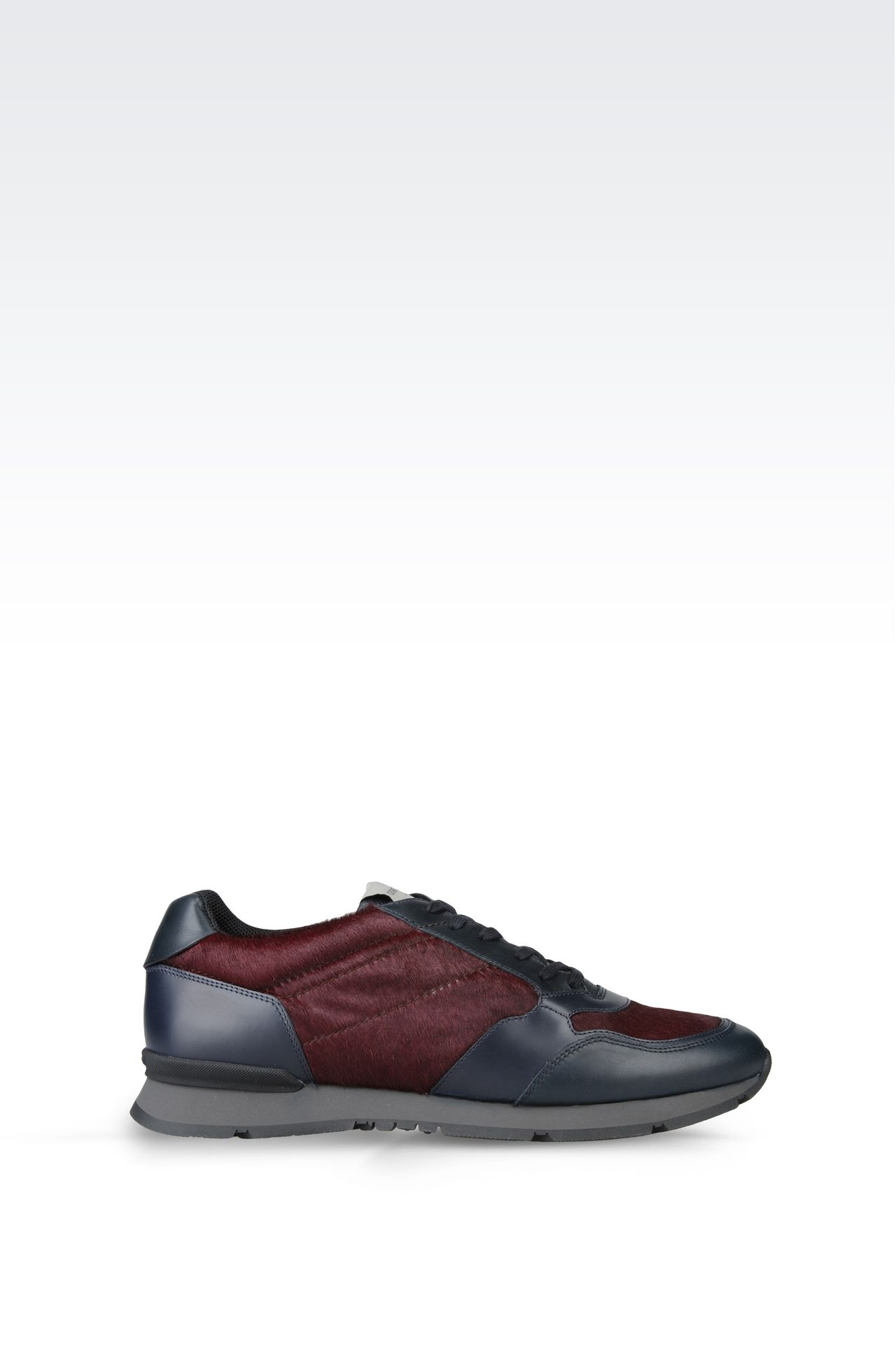 SNEAKER IN PONY SKIN: Sneakers Men by Armani - 0