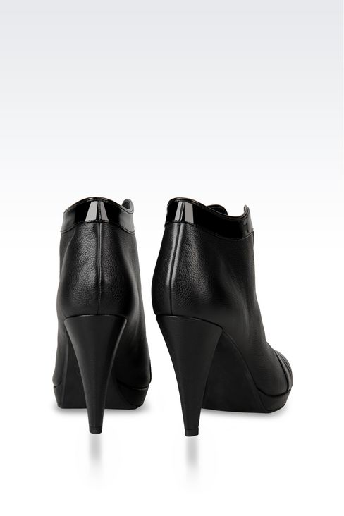 LEATHER ANKLE BOOT WITH ZIP: Ankle boots Women by Armani - 3