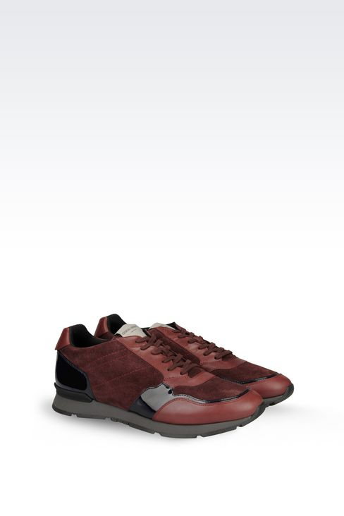 TWO-COLOUR SNEAKER IN LEATHER: Sneakers Men by Armani - 2