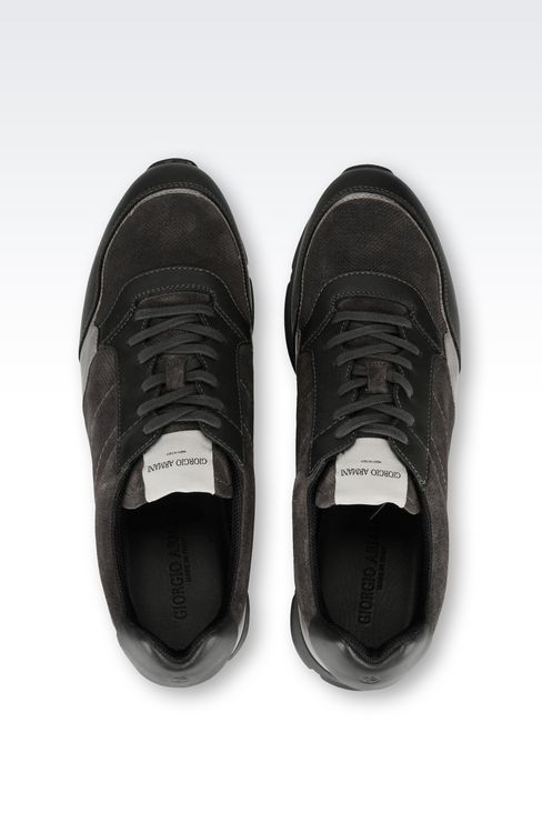 TWO-COLOUR SNEAKER IN LEATHER: Sneakers Men by Armani - 3