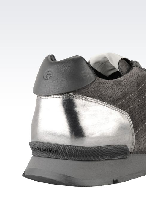 TWO-COLOUR SNEAKER IN LEATHER: Sneakers Men by Armani - 4