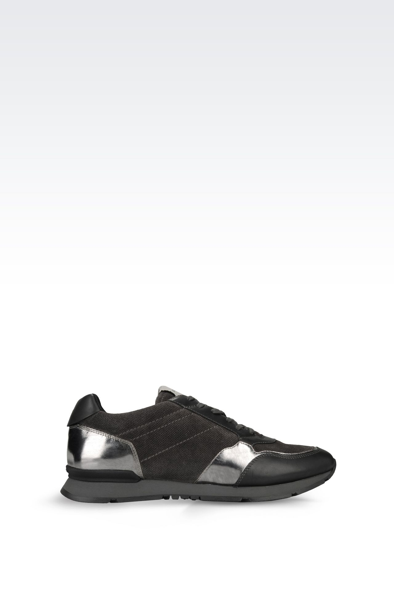 TWO-COLOUR SNEAKER IN LEATHER: Sneakers Men by Armani - 0