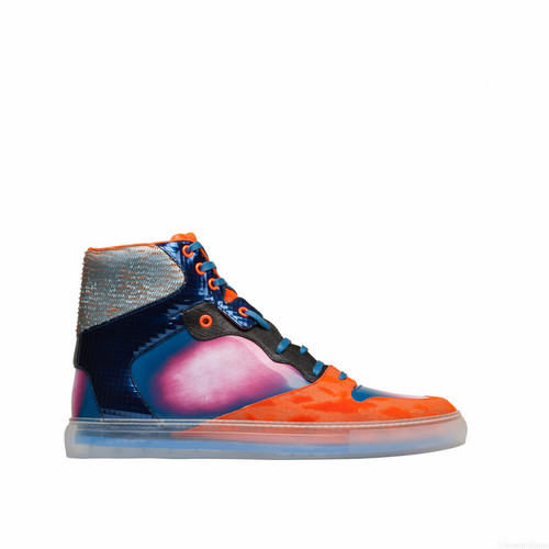 Balenciaga Iridescent Multicolor High Sneakers