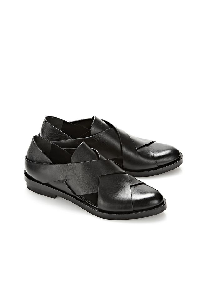 ALEXANDER WANG MORGAN CUT OUT OXFORD FLATS Adult 12_n_r