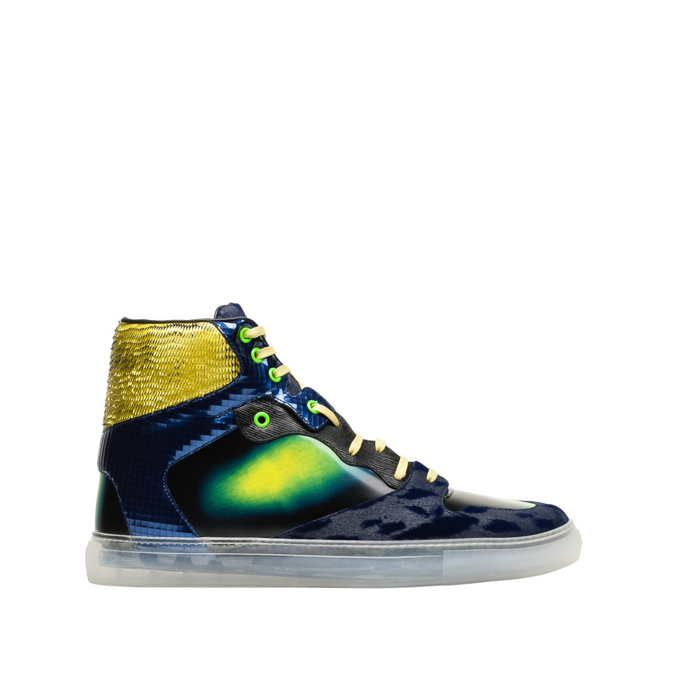 balenciaga iridescent multicolor high sneakers men 39 s multimaterial sneakers. Black Bedroom Furniture Sets. Home Design Ideas