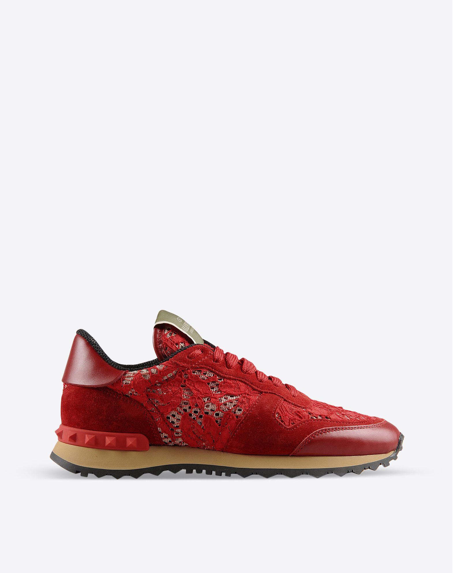 valentino garavani rockrunner in macram lace sneakers for women valentino online boutique. Black Bedroom Furniture Sets. Home Design Ideas