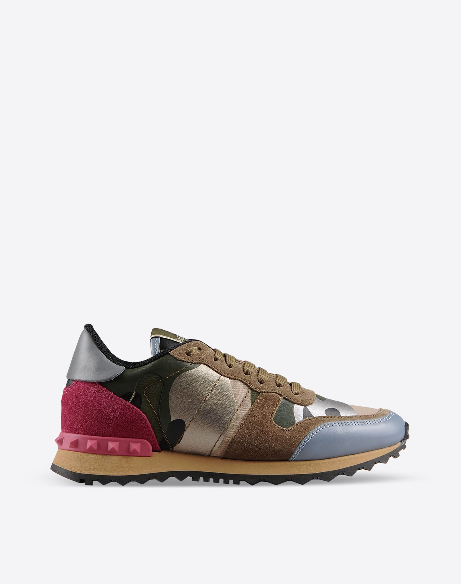 valentino garavani rockrunner camouflage sneakers for women valentino online boutique. Black Bedroom Furniture Sets. Home Design Ideas