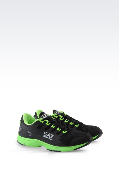 ea7 two colour running shoe with logo armani