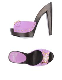 VERSACE COLLECTION - Open-toe mule