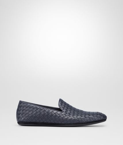 OUTDOOR SLIPPER IN DARK NAVY INTRECCIATO CALF