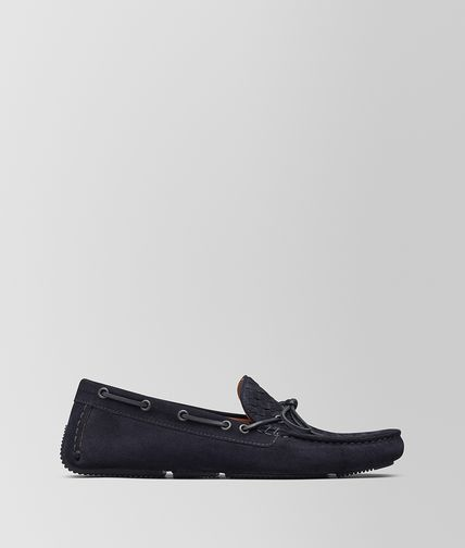 DARK NAVY SUEDE MOCCASIN