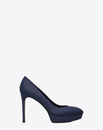 CLASSIC JANIS 80 ESCARPIN PUMP IN Blue LEATHER