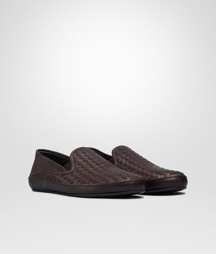 OUTDOOR SLIPPER IN EBANO INTRECCIATO NAPPA