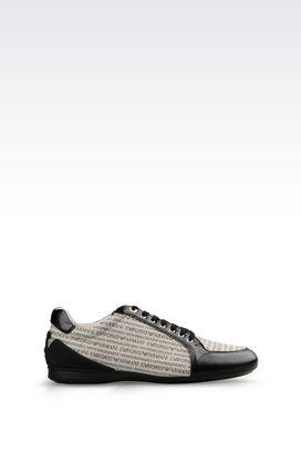 Armani Sneakers Men sneaker in branded fabric
