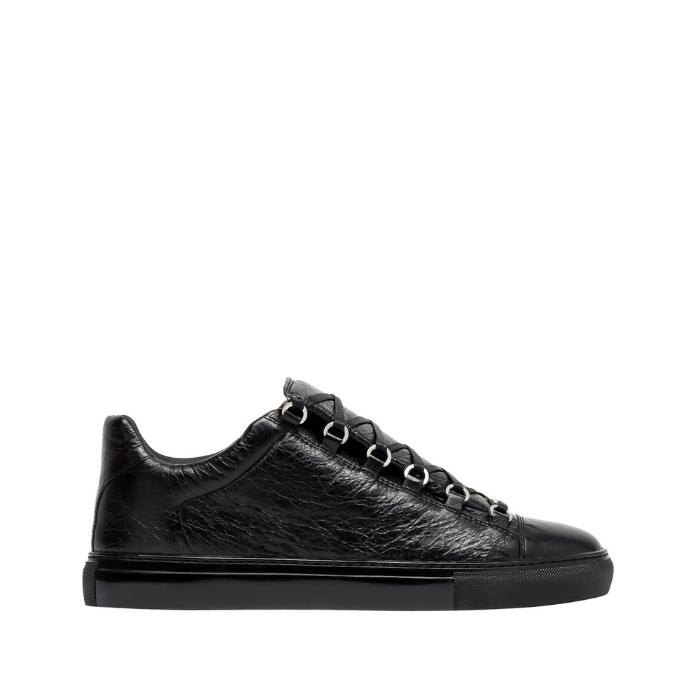 balenciaga shiny effect low sneakers black men 39 s arena sneakers. Black Bedroom Furniture Sets. Home Design Ideas