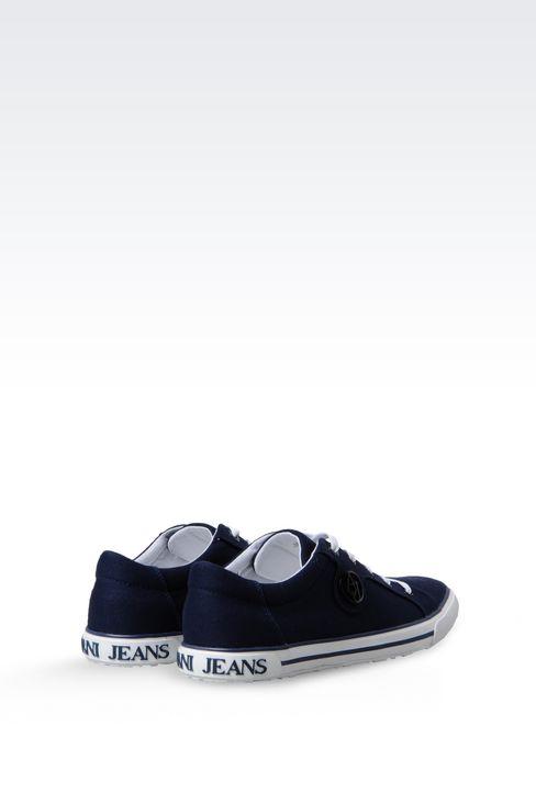CANVAS SNEAKER: Sneakers Women by Armani - 3