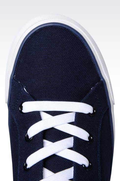 CANVAS SNEAKER: Sneakers Women by Armani - 4