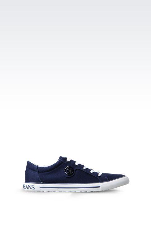 CANVAS SNEAKER: Sneakers Women by Armani - 1