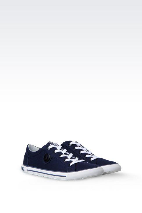 CANVAS SNEAKER: Sneakers Women by Armani - 2
