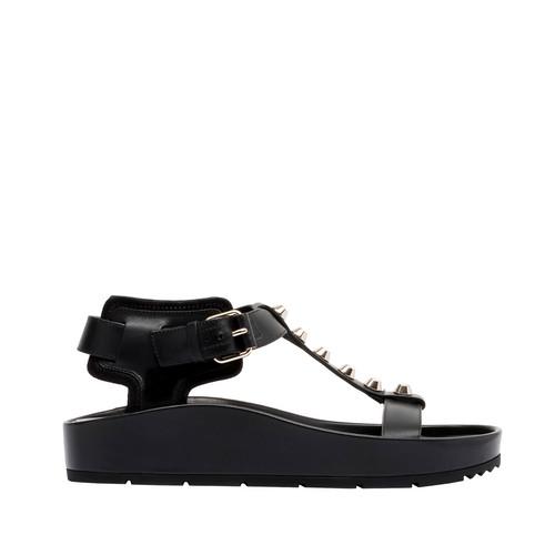 Balenciaga Classic Flache Sandalen mit Riemen und T-Steg