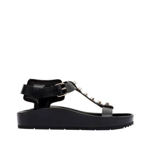 Balenciaga Classic Strap T Bar Flat Sandals