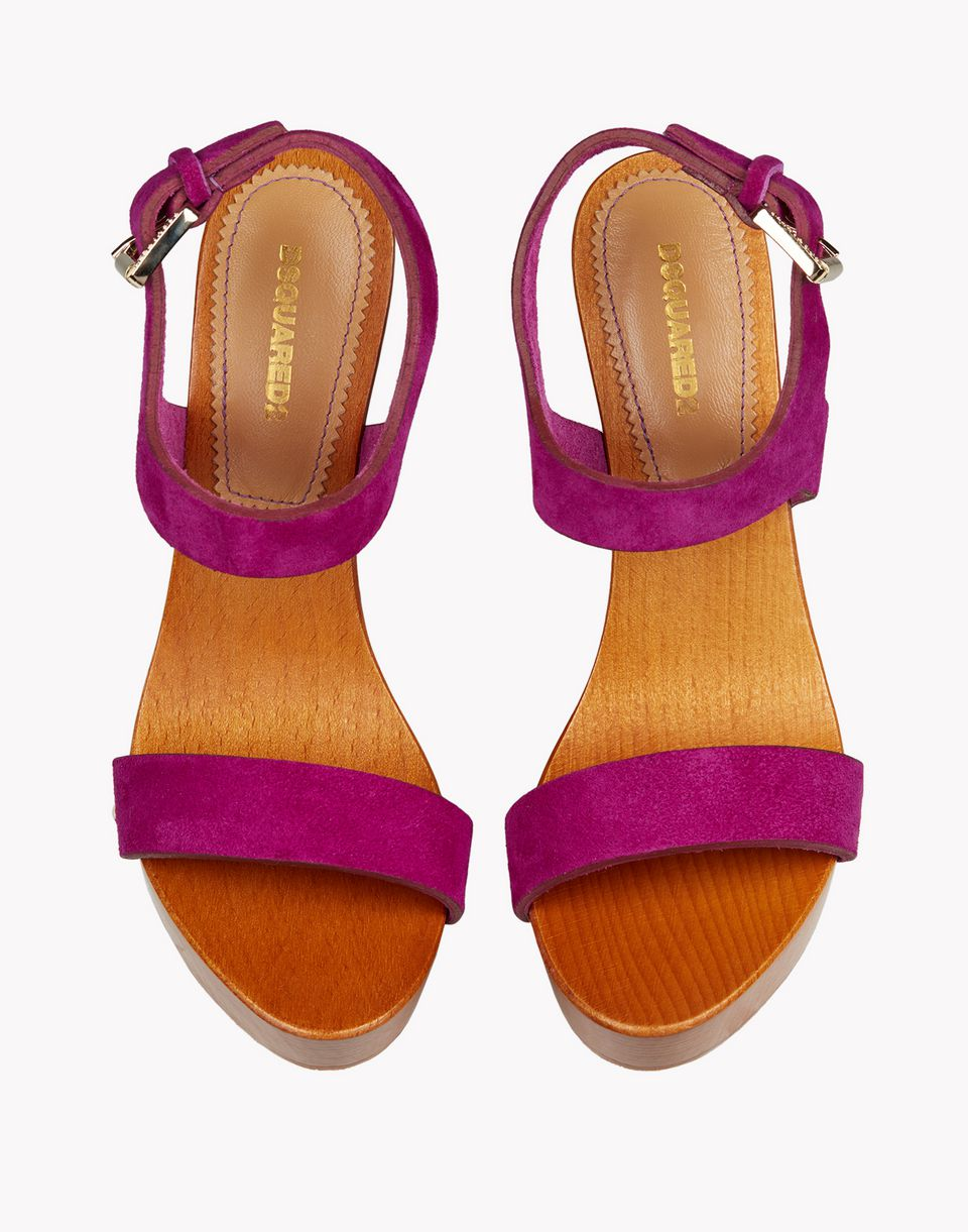 70's wood clogs sandals shoes Woman Dsquared2
