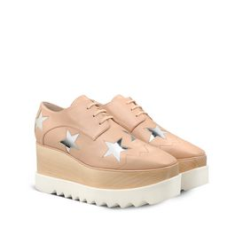 STELLA McCARTNEY, Wedges, Elyse Powder Rose Star Shoes