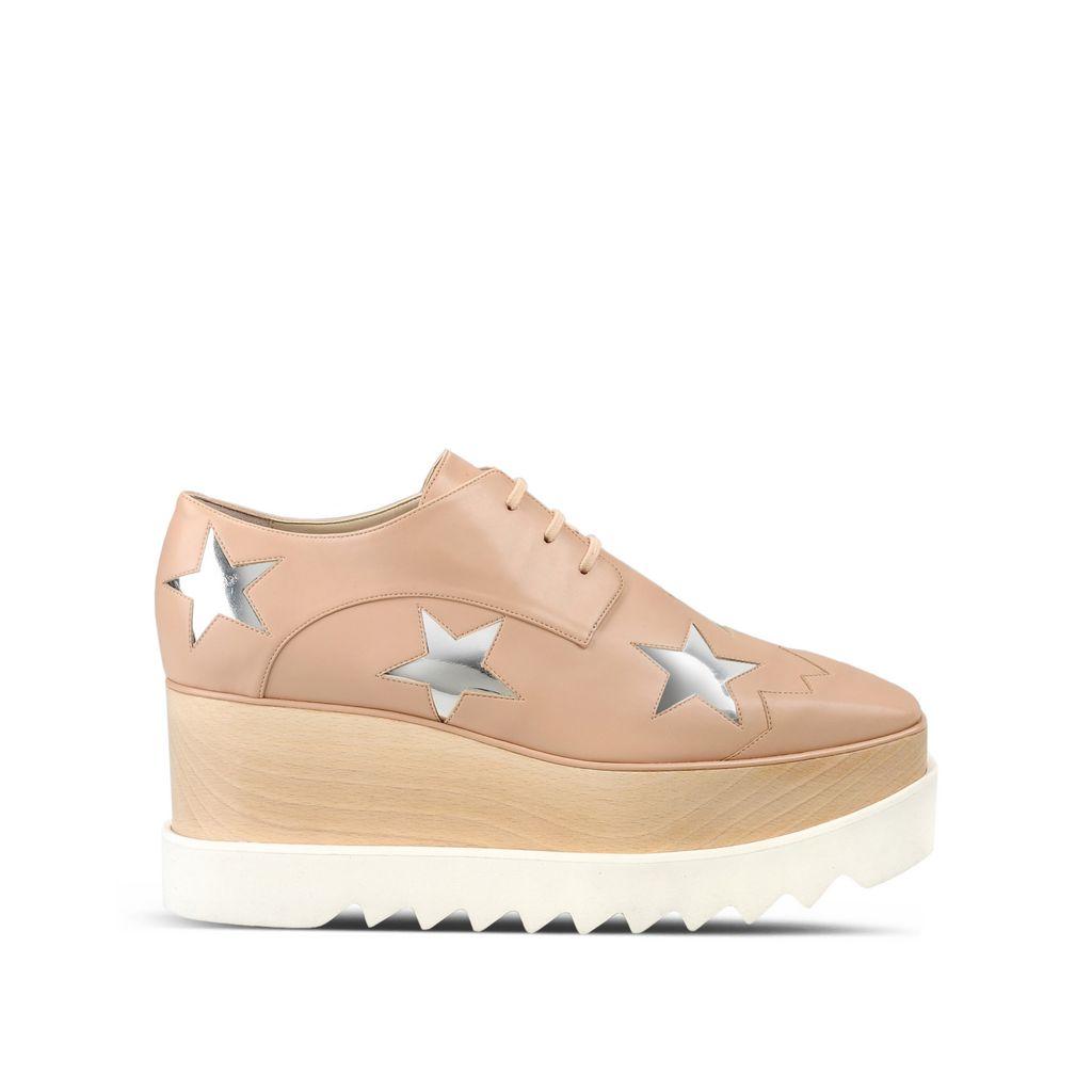 Chaussures Elyse rose poudré à étoiles