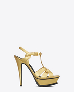 Classic TRIBUTE 105 sandal in Gold Metallic Leather