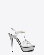 Classic TRIBUTE 105 sandal in Silver Metallic Leather