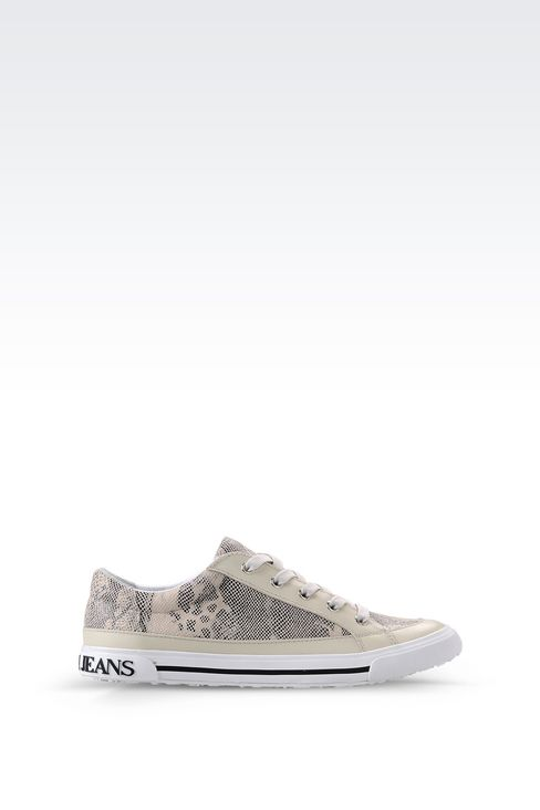 armani jeans women sneaker in snake print faux leather. Black Bedroom Furniture Sets. Home Design Ideas