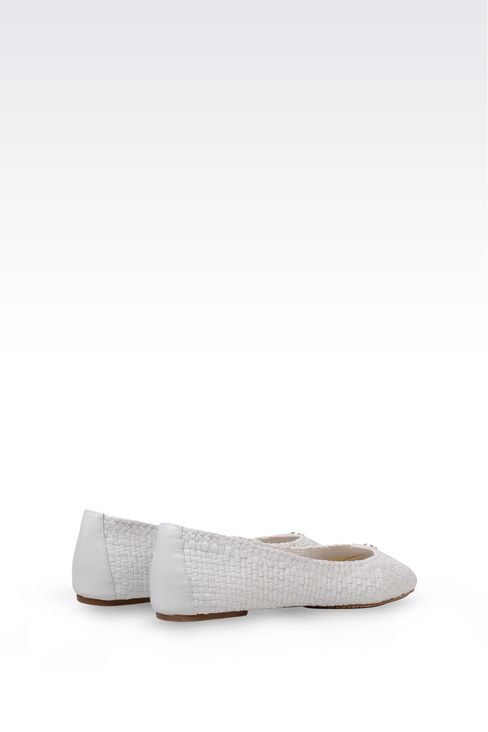 BALLET FLAT IN WOVEN LEATHER: Ballet flats Women by Armani - 3