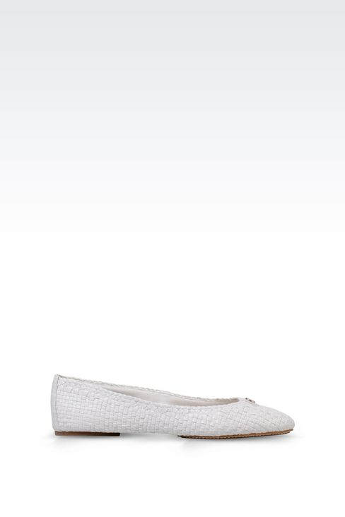 BALLET FLAT IN WOVEN LEATHER: Ballet flats Women by Armani - 1