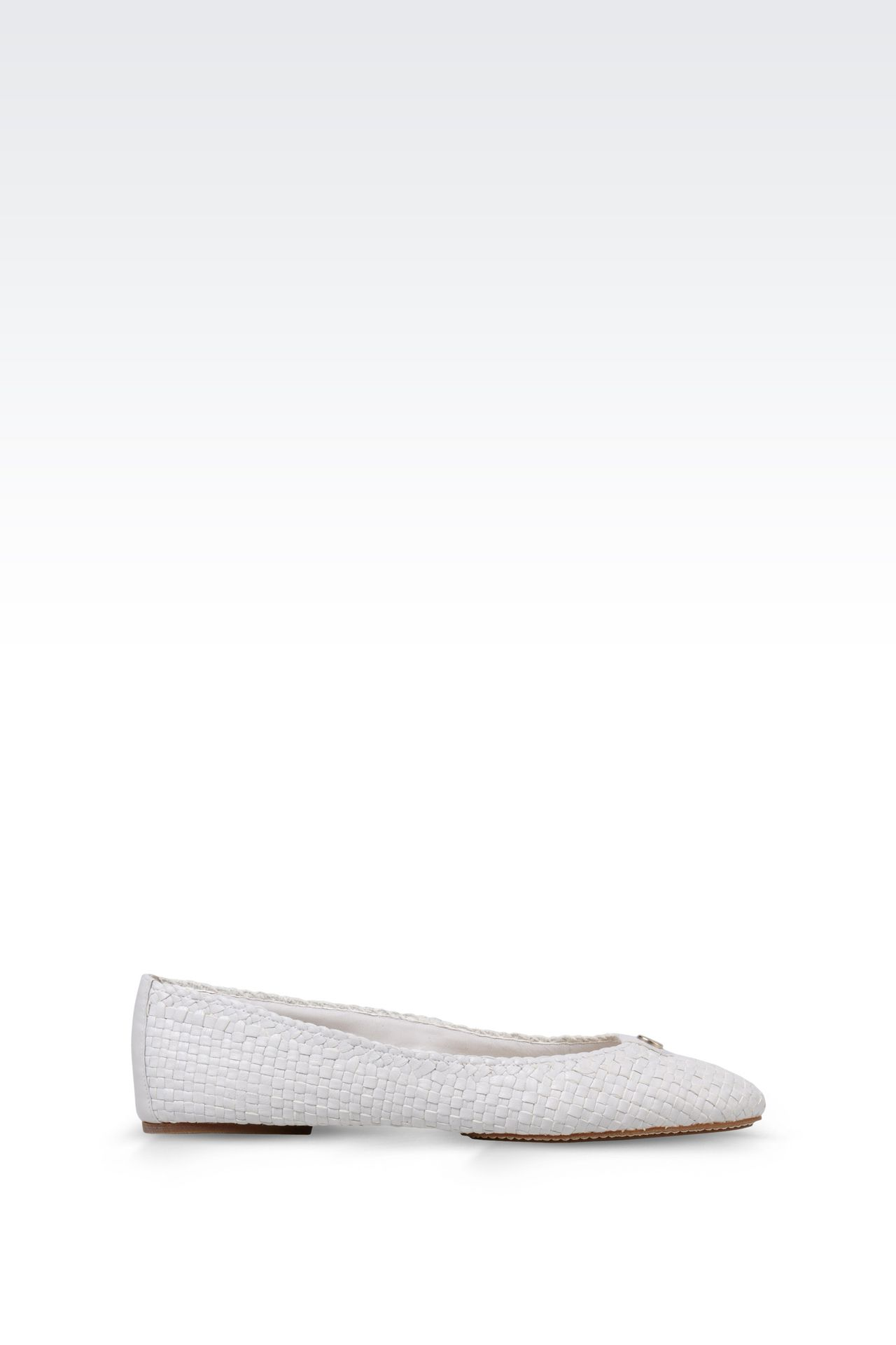 BALLET FLAT IN WOVEN LEATHER: Ballet flats Women by Armani - 0