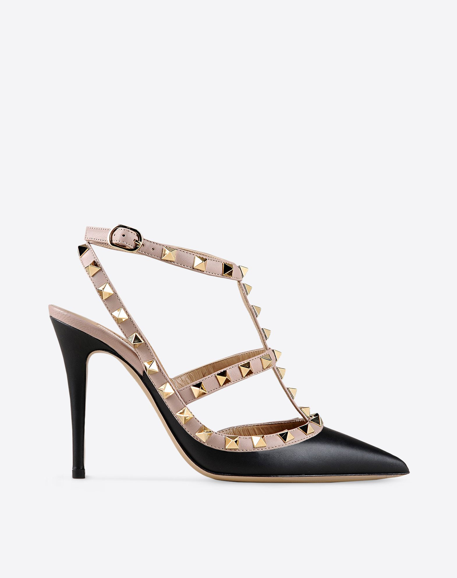 chaussure rockstud bride escarpin femme valentino garavani boutique en ligne valentino. Black Bedroom Furniture Sets. Home Design Ideas