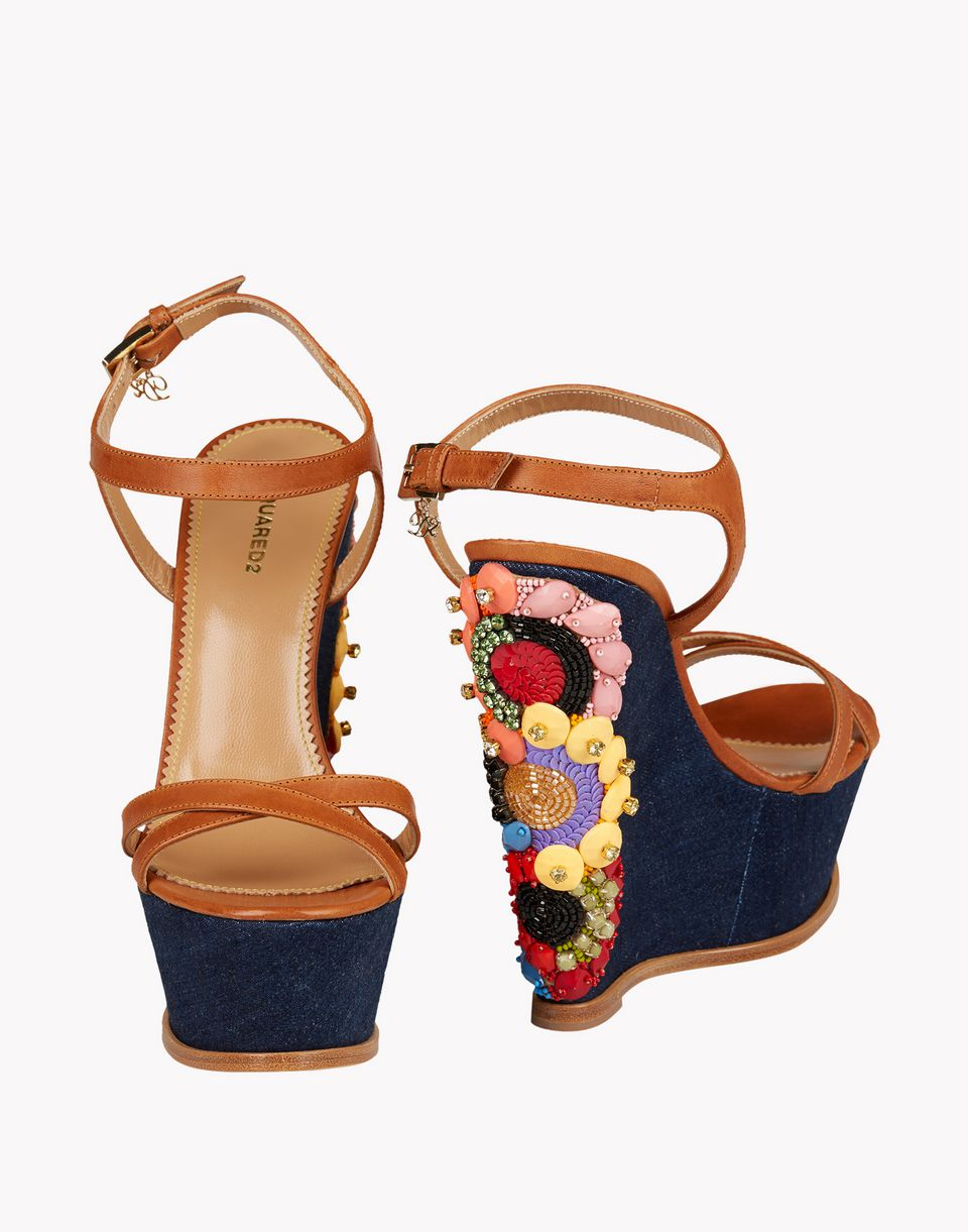 sonya glam wedges shoes Woman Dsquared2