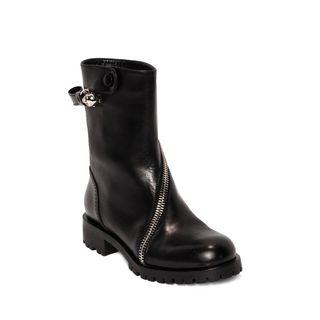 ALEXANDER MCQUEEN, Boots, Rider Calf Skull Zipper Boot