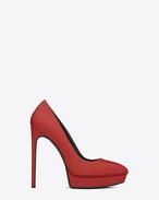 CLASSIC JANIS 105 ESCARPIN PUMP IN RED TEXTURED LEATHER